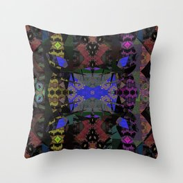 Ritual of Snake Shedding Skin Mystical Shamanic Landscape Oil Painting Throw Pillow