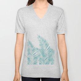 Palm Leaves Island Paradise Unisex V-Neck