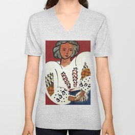 Henri Matisse - The Romanian Blouse - Exhibition Poster Unisex V-Neck