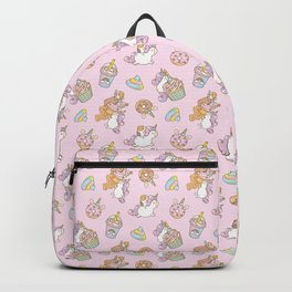 Bubu and Moonch, kawaii Guinea pig and unicorn pattern in pink  Backpack