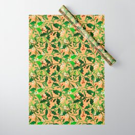Holly & Mistletoe Wrapping Paper