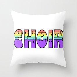 Pastel Choir Throw Pillow