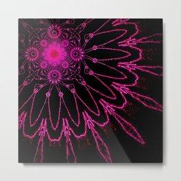 The Modern Flower Electric Fucshia Metal Print