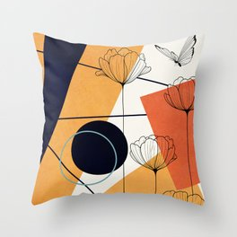 Vibrant Flower Design 3 Throw Pillow