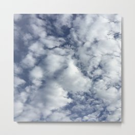 cloud pattern Metal Print