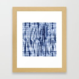 Shibori Tie Dye Pattern Framed Art Print