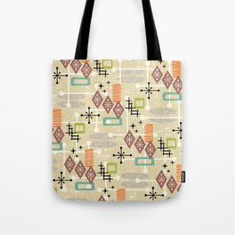 Retro Mid Century Modern Atomic Abstract Pattern 241 Tote Bag