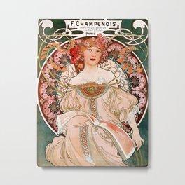 Alphonse Mucha F. Champenois Imprimeur-Éditeur  Metal Print