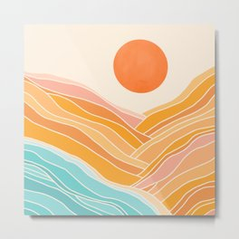 Adventure On The Horizon / Abstract Landscape Metal Print