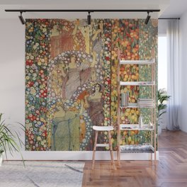 Classical Spring Floral Garden of Galileo Chini by Giorgio Kienerk Wall Mural