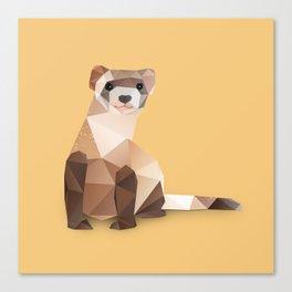 Ferret. Canvas Print