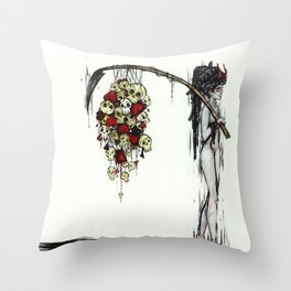 Head and Heart Reaper Throw Pillow