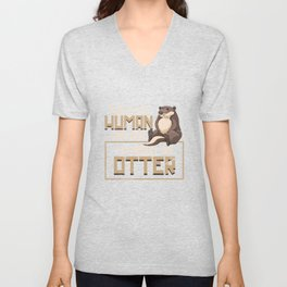 Otter This Is My Human Costume Unisex V-Neck