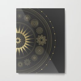 Mandala Solar System Metal Print