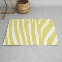 Citrus & White Zebra Print Rug