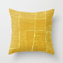 Categorize Print in Yellow Throw Pillow
