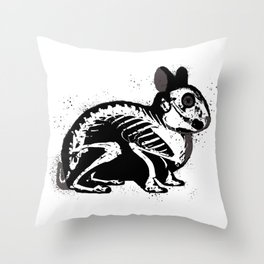 Death Bunny Throw Pillow