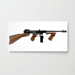 Tommy Gun Metal Print
