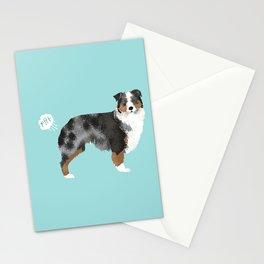 Australian Shepherd blue merle funny dog fart Stationery Cards