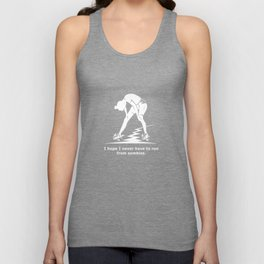 Running from Zombies Unisex Tank Top