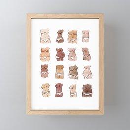 Hello, girls! // Boobs and butts Framed Mini Art Print