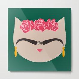 Frida the Cat Metal Print