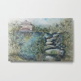 The Bamboo (Watercolor Painting) Metal Print