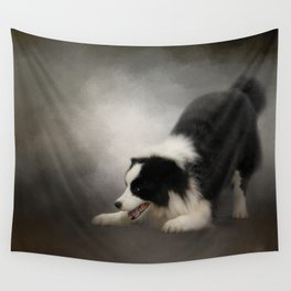 Ready to Play - Border Collie Wall Tapestry