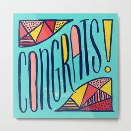Congrats! Metal Print