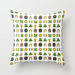 St Patricks day pattern Throw Pillow