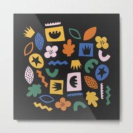 Shapes & Plants IV Metal Print