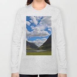 Highland Blue and Green Long Sleeve T-shirt