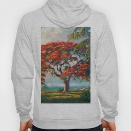 Royal Poinciana Tropical Florida Keys Landscape by A.E. Backus Hoody