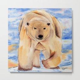 ours blanc Metal Print