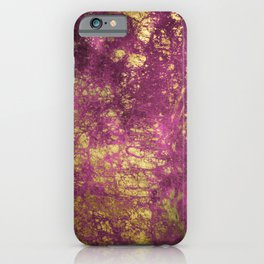Pink-Magenta Elegant Marble With Ornate Gold Veins iPhone Case