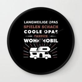 Coole Opas fahren Wohnmobil (Geschenk) Wall Clock
