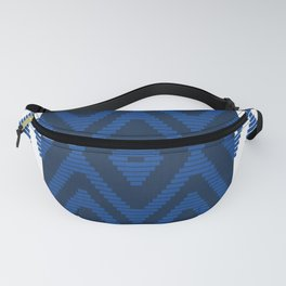 Rattan in Blue Fanny Pack