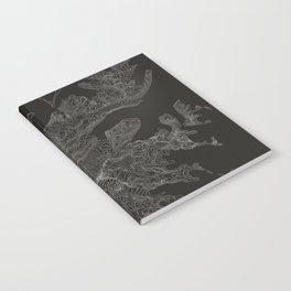 Mount Rainier, WA Contour Map Notebook