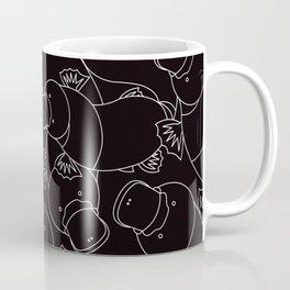 Minimalist Platypus Black and White Coffee Mug