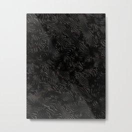 Black Silk Moire Pattern Metal Print