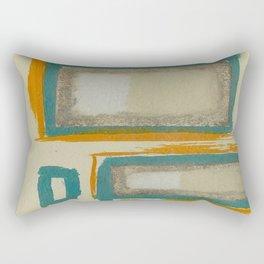 Soft And Bold Rothko Inspired - Corbin Henry Modern Art - Teal Blue Orange Beige Rectangular Pillow