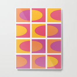 Full of life colors. Simple geometric pattern.  Metal Print