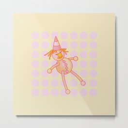 Smiley – the Fluffy Rag Doll Metal Print