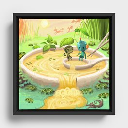 What the Pho Framed Canvas
