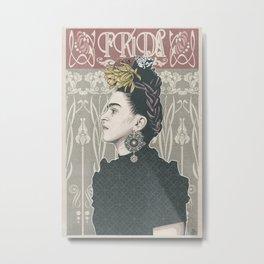 Frida Kahlo Illustration Metal Print