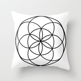 Seed of Life Simply Throw Pillow
