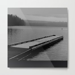 Suttle Lake in Gray and Black Metal Print