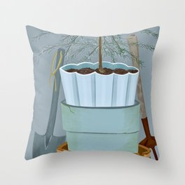 Stacked pots Throw Pillow
