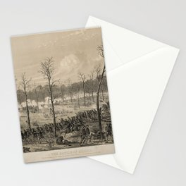 American Civil War: The Battle of Shiloh by Alfred Edward Mathews (1862) Stationery Cards