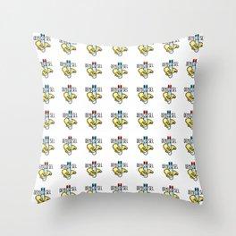 Demi-sel Throw Pillow